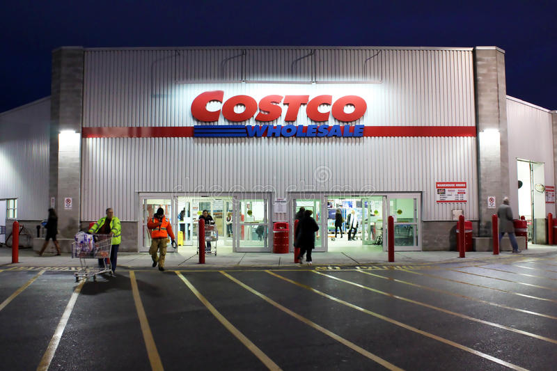 Costco Wholesale storefront. Etobicoke, Ontario, Canada - December 18, 2013: Costco Wholesale storefront on December 18, 2013 in Etobicoke, Ontario, Canada stock photo