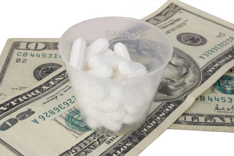 Coste de medicina fotografía de archivo libre de regalías