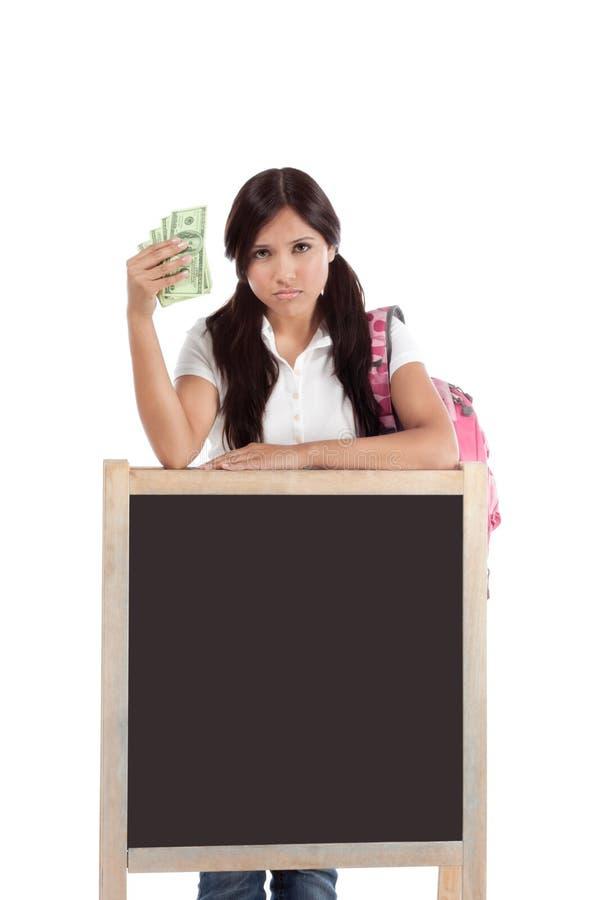 Coste de préstamo y de ayuda económica del estudiante de la educación fotografía de archivo libre de regalías