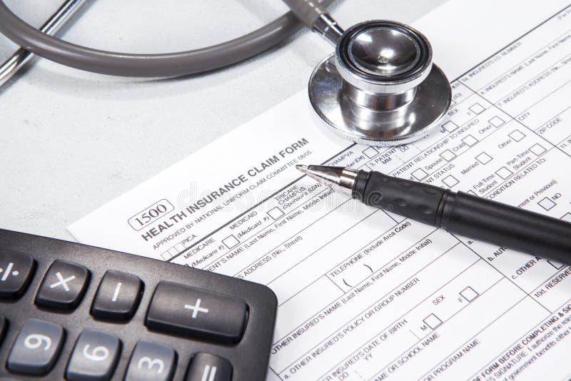Coste del concepto 1 de la atención sanitaria foto de archivo