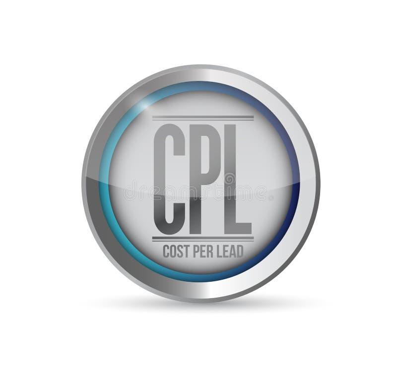 Coste por diseño del ejemplo del botón de la ventaja libre illustration