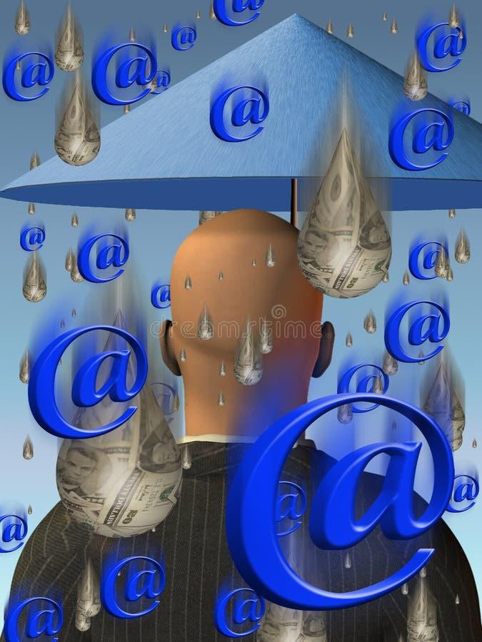 Coste y beneficio del email ilustración del vector