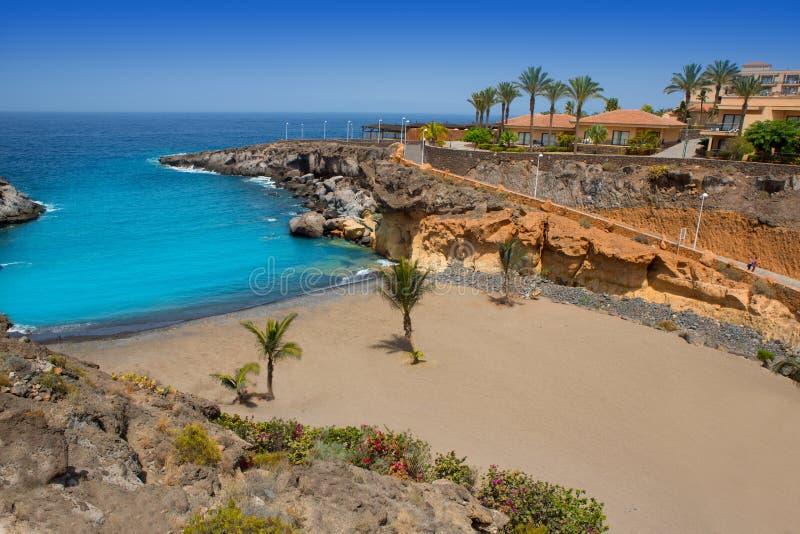 Costela Adeje de Playa Paraiso da praia em Tenerife foto de stock