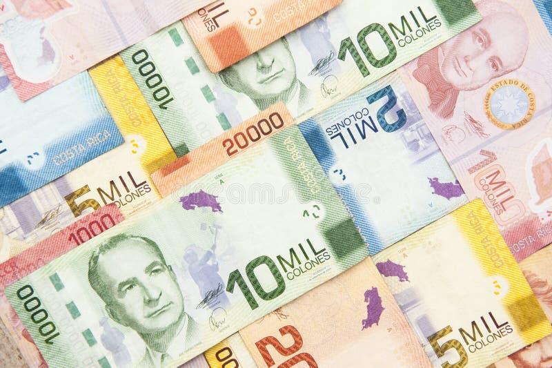 Costela Rican Colones imagem de stock royalty free
