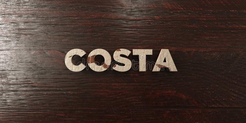 A costela - título de madeira sujo no bordo - 3D rendeu a imagem conservada em estoque livre dos direitos ilustração royalty free