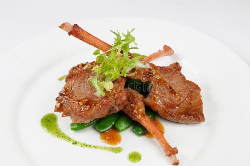 Costeleta de carne de carneiro fotografia de stock royalty free