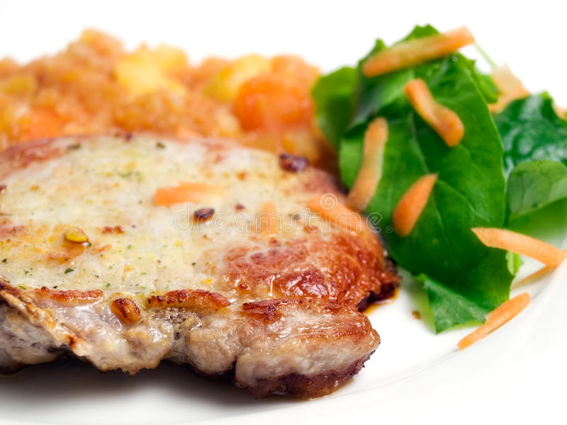 Costeleta de carne de porco imagens de stock royalty free