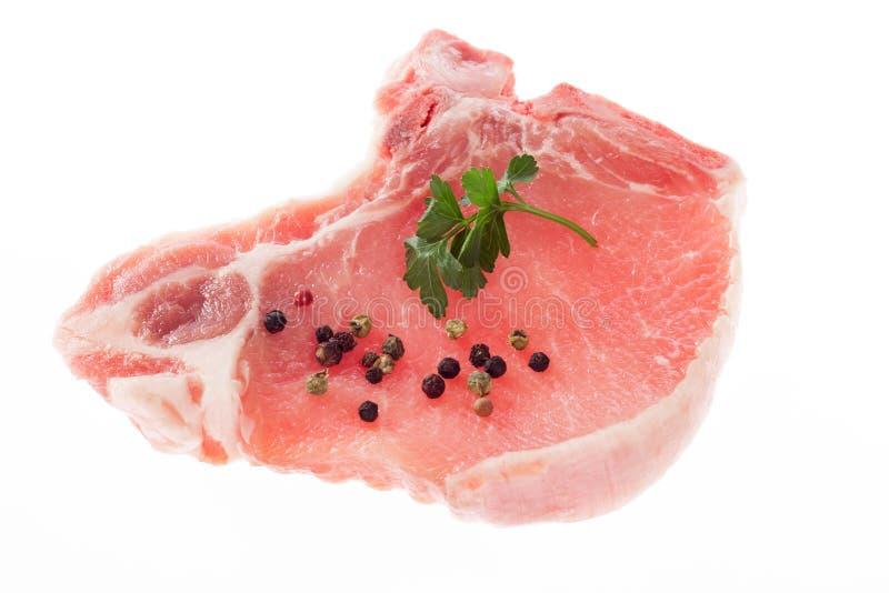 Costeleta de carne de porco foto de stock