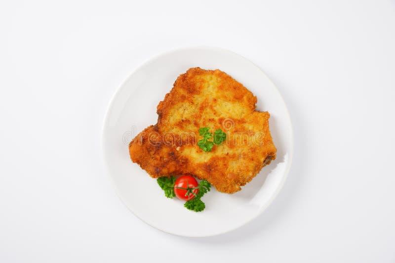 Costeleta de carne de porco fritada imagem de stock