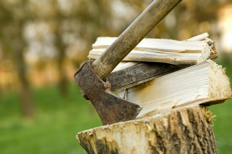 Costeleta de madeira imagens de stock royalty free