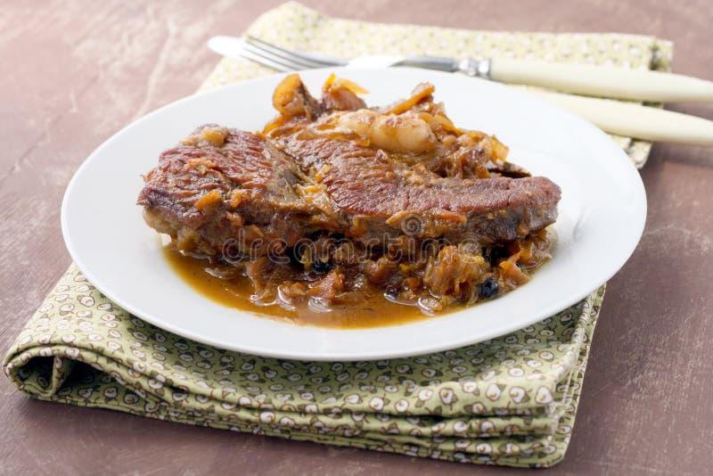 Costeletas da carne fotos de stock royalty free