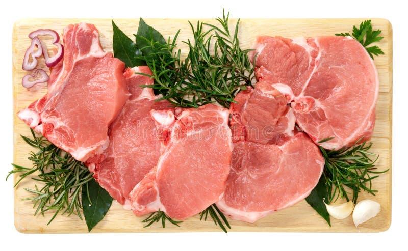 Costeletas de carne de porco imagens de stock