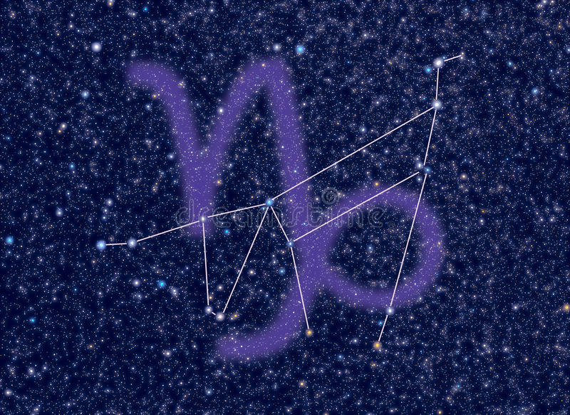 Costellazione dello zodiaco del Capricorn illustrazione vettoriale
