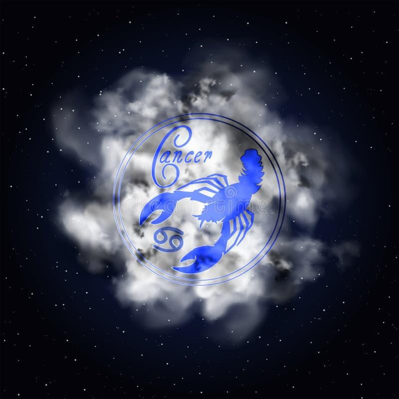 Costellazione di astrologia del Cancro del fumo dello zodiaco illustrazione vettoriale