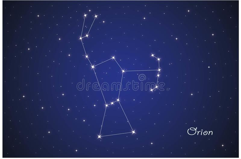 Costellazione di Orion illustrazione vettoriale