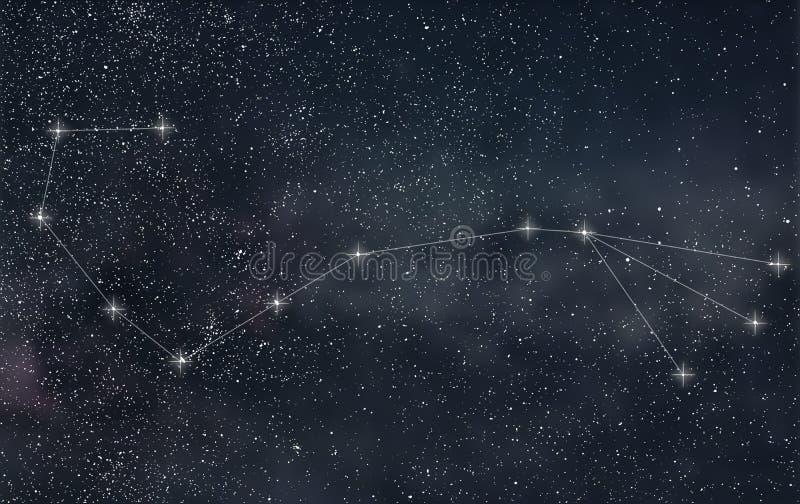 Costellazione di scorpione Linee della costellazione di scorpione del segno dello zodiaco royalty illustrazione gratis
