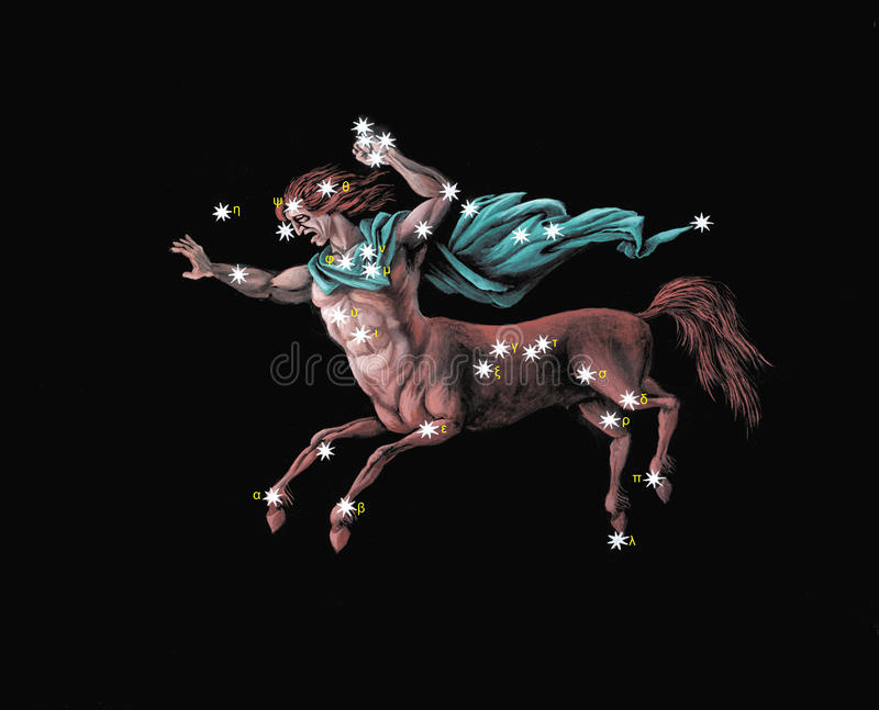 Costellazione il Centaur illustrazione vettoriale