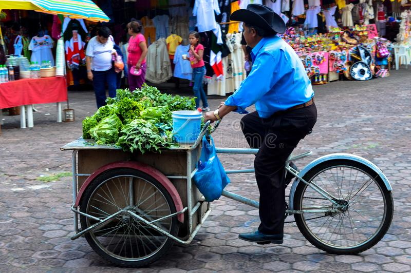 Costermonger in Mexico DF stock photo