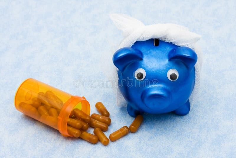 Costes cada vez mayores del cuidado médico fotos de archivo