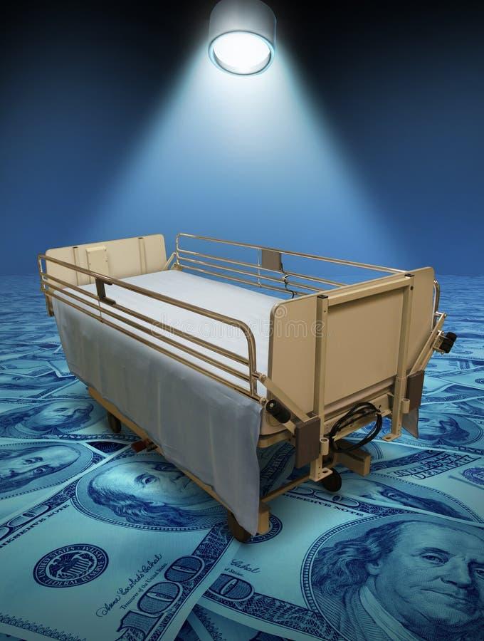 Costes de atención hospitalaria stock de ilustración