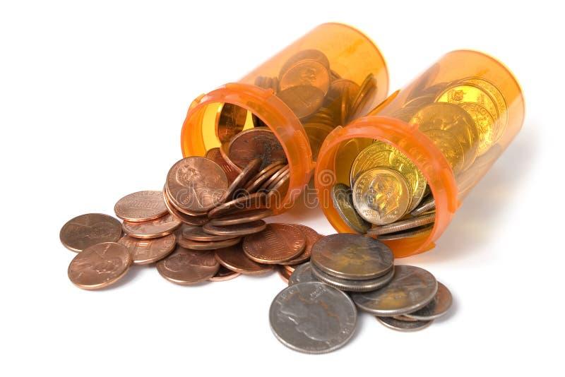 Costes del cuidado médico foto de archivo