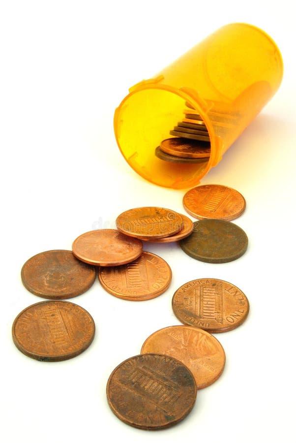 Costes del medicamento de venta con receta imágenes de archivo libres de regalías