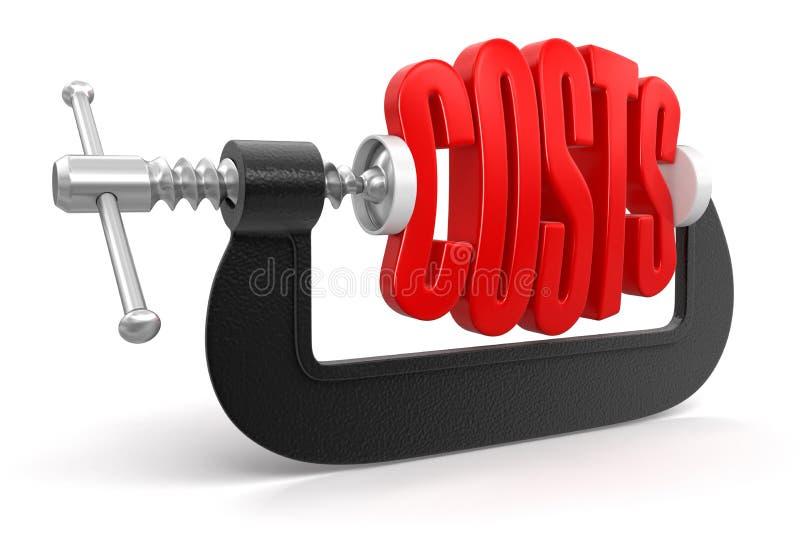 Costes en la abrazadera (trayectoria de recortes incluida) libre illustration