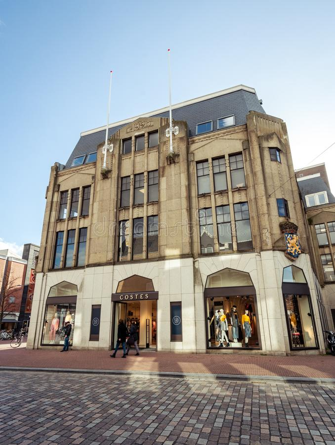 Costes estabeleceu em Het Linderhuis em Dordrecht imagem de stock