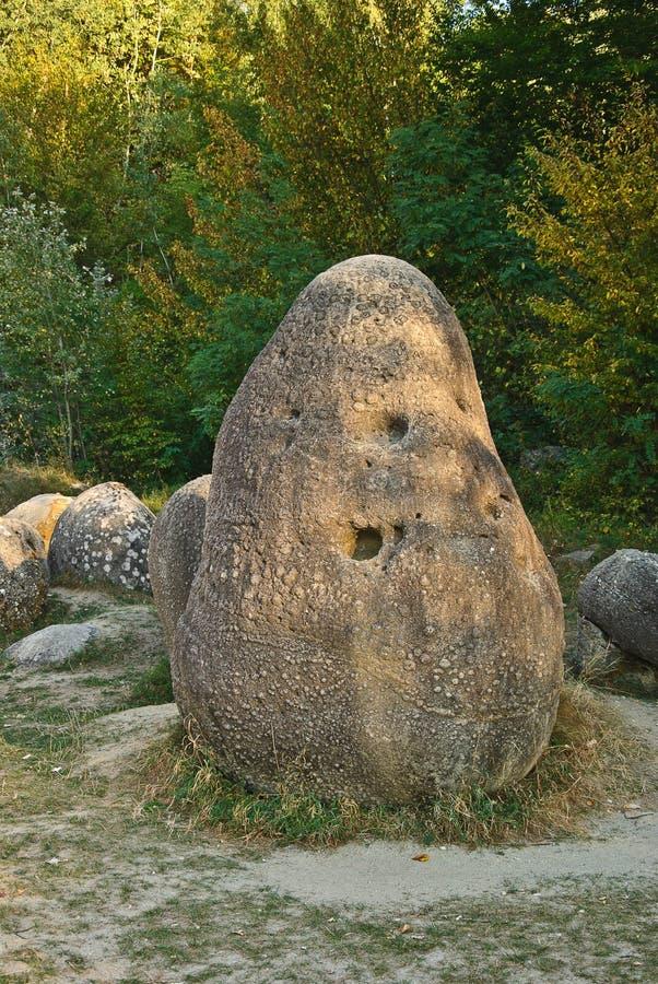 Costesti,罗马尼亚Trovants  库存图片
