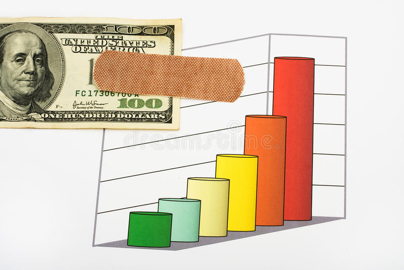 Costi aumentati di sanità immagine stock libera da diritti