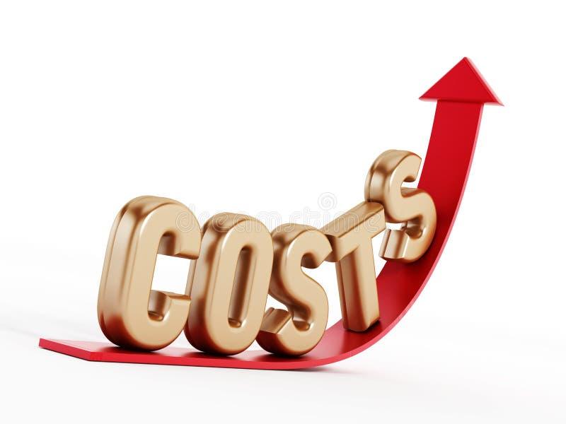 Costi crescenti illustrazione vettoriale