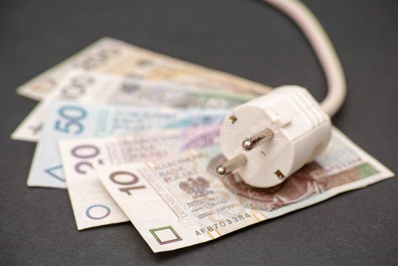 Costi di elettricità polacchi immagine stock