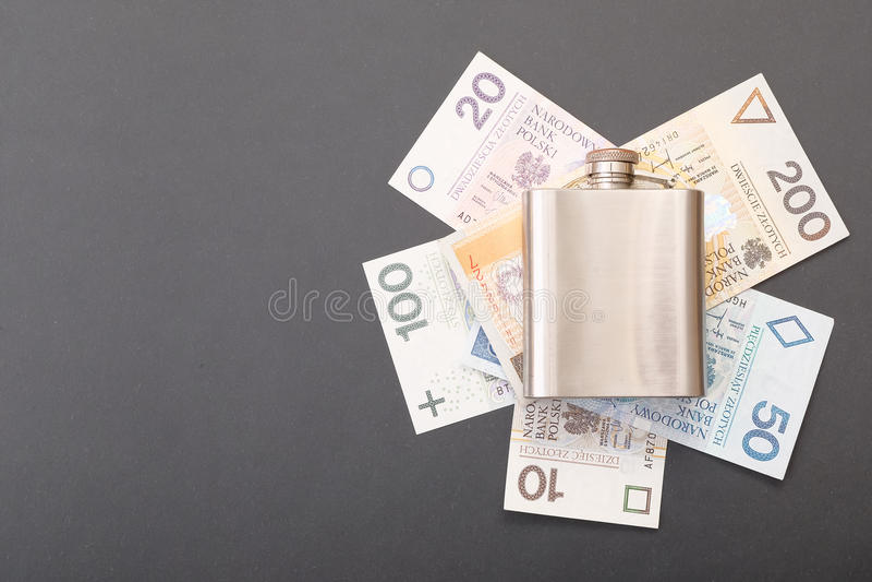 Costi polacchi di alcolismo fotografie stock libere da diritti