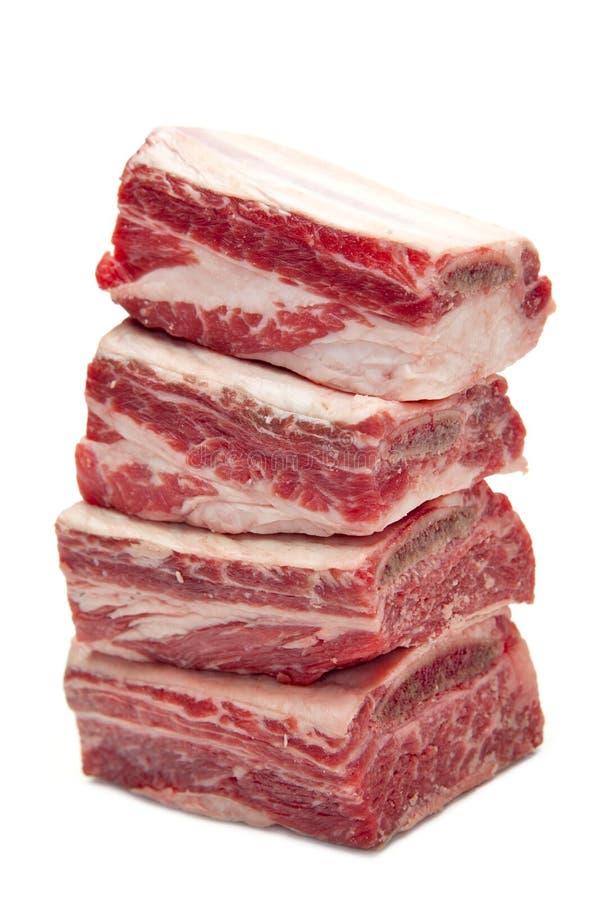 Costillas cortas de la carne de vaca foto de archivo libre de regalías