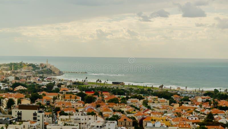 Costline de Tel Aviv imagenes de archivo