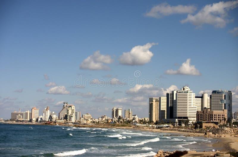 Costline van Tel Aviv stock foto