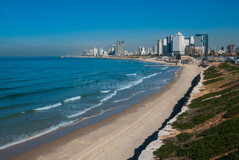 Tel-Aviv Coastline View Stock Image