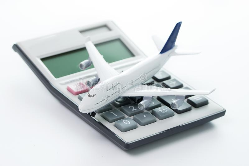 Costo, bilancio o spese di viaggio fotografie stock libere da diritti