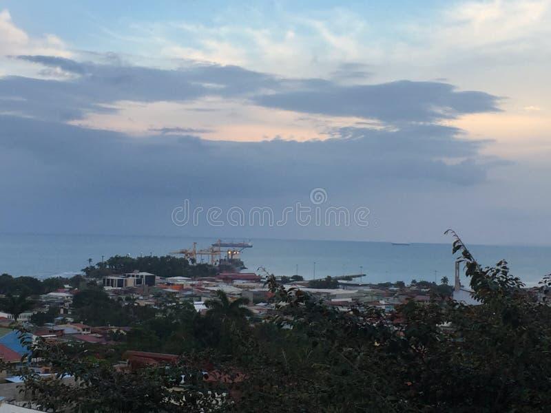 Costo caraibico fotografia stock