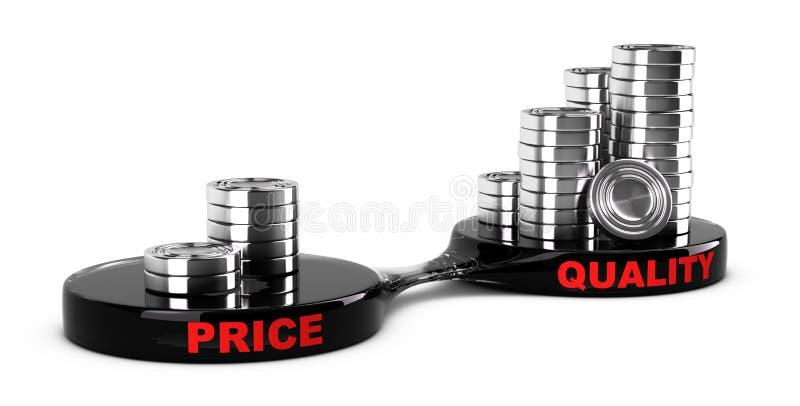 Costo de alta calidad, bajo ilustración del vector