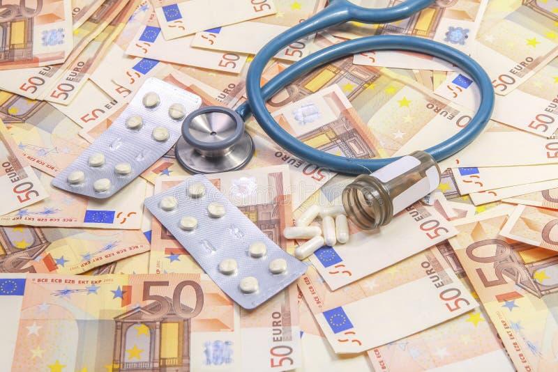 Costo della salute aumentante immagini stock