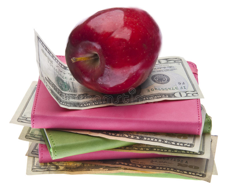 Costo della sanità o della formazione immagine stock