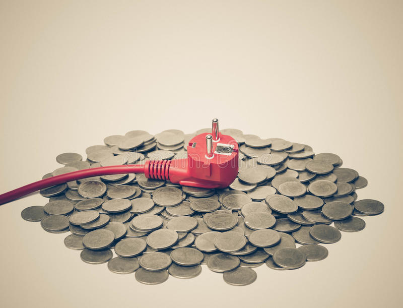 Costo di elettricità costoso fotografia stock libera da diritti