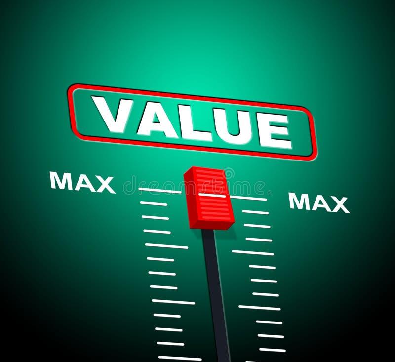 Costo di Max Represents Upper Limit And di valore illustrazione di stock