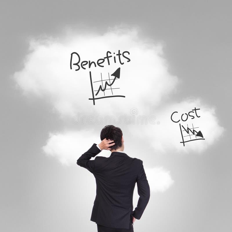 Costo e problema dei benefici fotografie stock libere da diritti