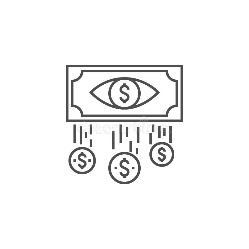 Costo per linea icona dell'impressione illustrazione di stock