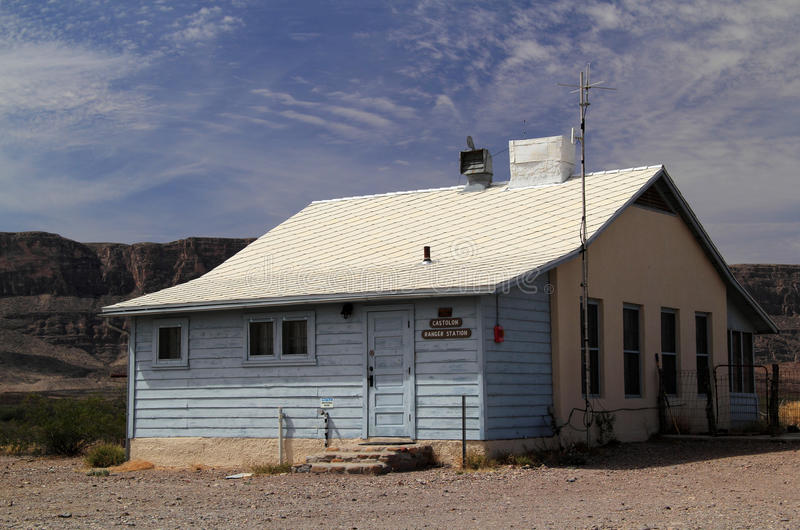 Costolon Ranger Station. In Big Bend National Park, Texas stock images