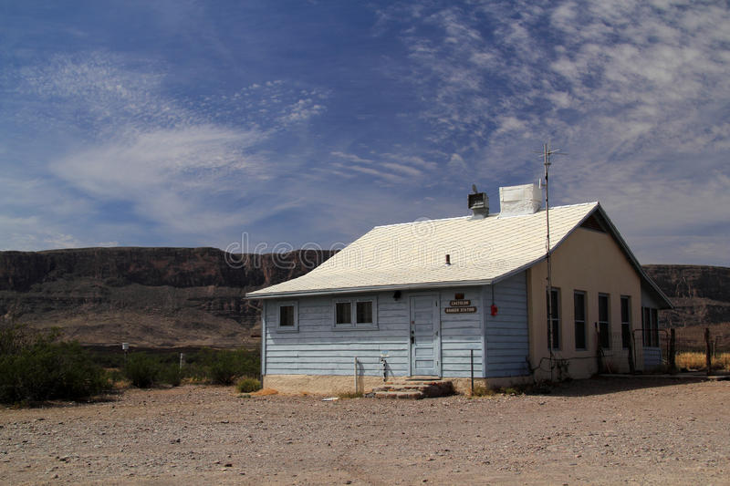 Costolon Ranger Station. In Big Bend National Park, Texas stock photography