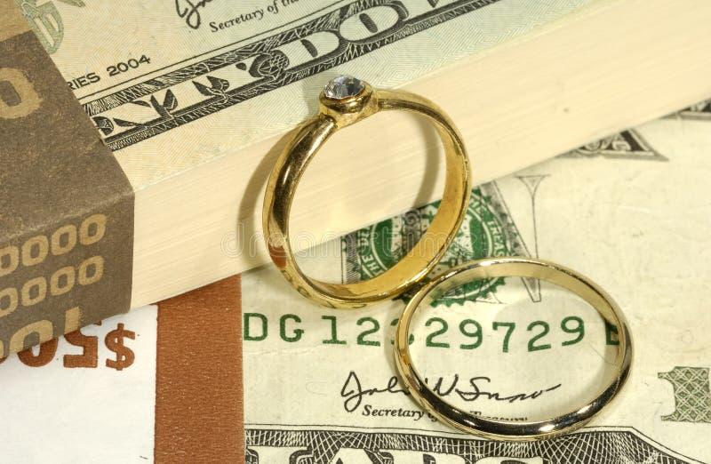 Costos de la boda imagen de archivo