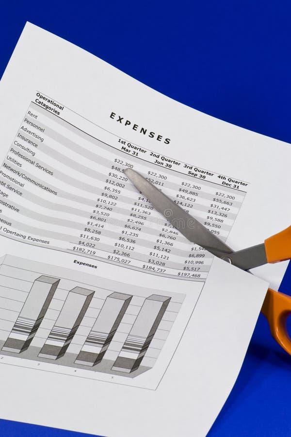 Costos del corte imagen de archivo libre de regalías